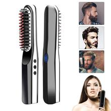 Anion Straight Hair Comb USB Rechargeable Portable Mini Charging Ceramic Straight Hair Splint Hair Straightener With LCD Display hair straightener dual use straight hair comb does not hurt straight straight hair curlers ceramic hairdressing