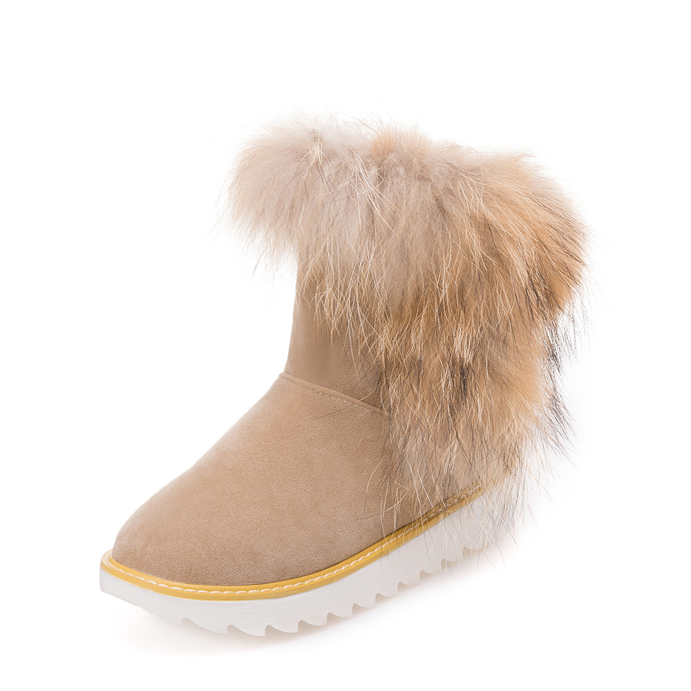 19322 Taille De 3 10 Couleurs Femme 4 Mode 19321 Noir 5 Neige D'hiver Bottes Beige Us Femmes Rose 19323 Chaussures Bout Rond DeHI2YWE9
