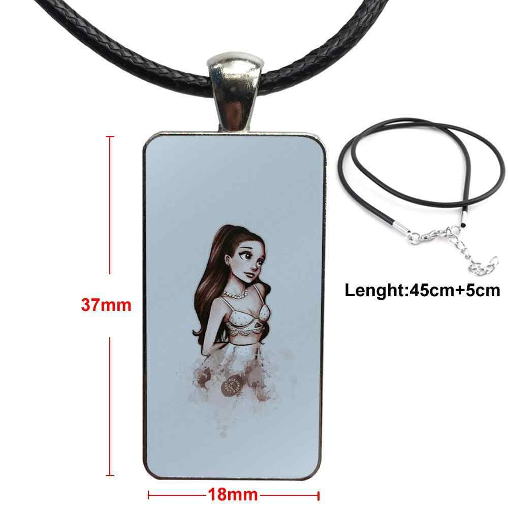 Untuk Anak Perempuan Kalung Fashion Rantai Panjang Dengan Persegi Panjang Kalung Perhiasan Penyanyi Amerika Ariana Grande Berbahaya Wanita