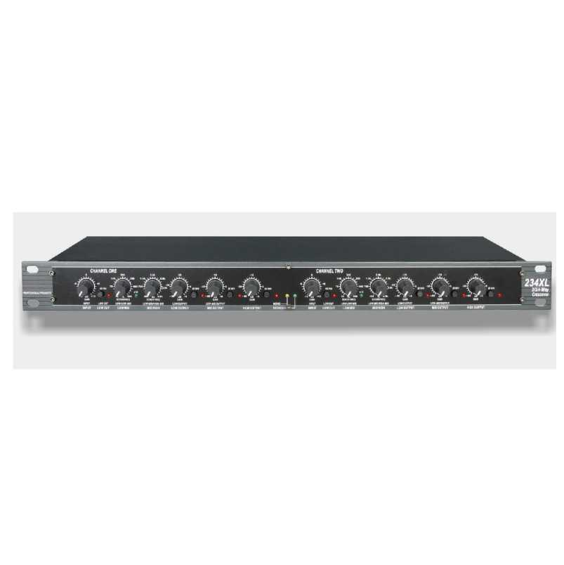 234XL professional audio crossovers Stereo 2/3 Way, Mono 4-Way Crossover