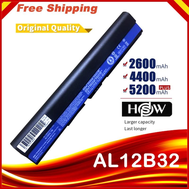 4 Cells 14.8V  Laptop Battery For Acer Aspire One 725 AO725 756 OA756 4ICR17/65AL12X32 AL12A31 AL12B31 AL12B32