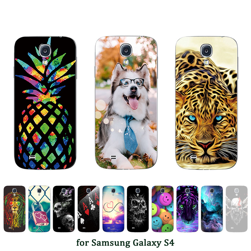 for Galaxy S4 SIV Protection Cover 5inch Soft TPU Silicone Funda for Samsung i9500 Ultrathin Phone Case Customized Picture Shell image