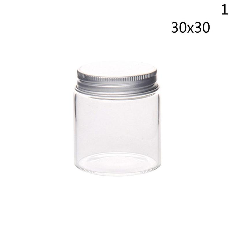 Transparent Small Glass Bottle With Cap Kitchen Glass Canister Snack Sugar Storage Container Jar Bottle Kitchen Accessories