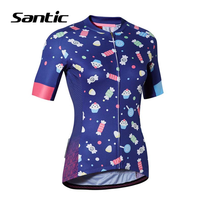Santic 2018 Cycling Jersey Women Short Sleeve Maillot Ropa Ciclismo Mujer MTB DH Jersey Bicycle Clothing Mountain Bike Jersey 2017 spring summer cycling jersey women long sleeve mountain biking jerseys shirt outdoor sports clothing ropa ciclismo santic