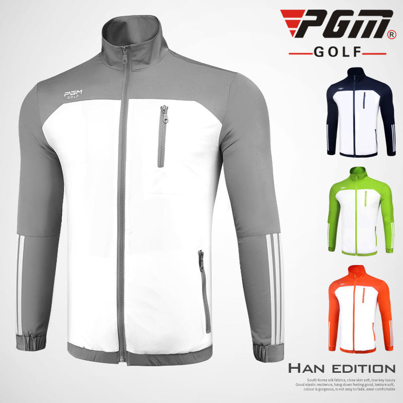 Men golf jacket autumn outdoor clothing golf sports coat windbreaker outwear training jacket thermal 4 colors dust coat top