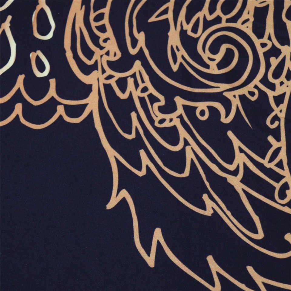 Tribal éléphant ensemble de literie Boho Mandala or Design ethnique indien dieu Ganesha housse de couette indien symbole ensemble de lit