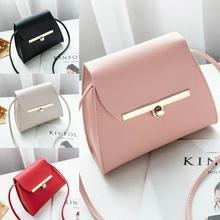 Fashion Women Handbag Buckle Small Tote Bag Ladies Crossbody