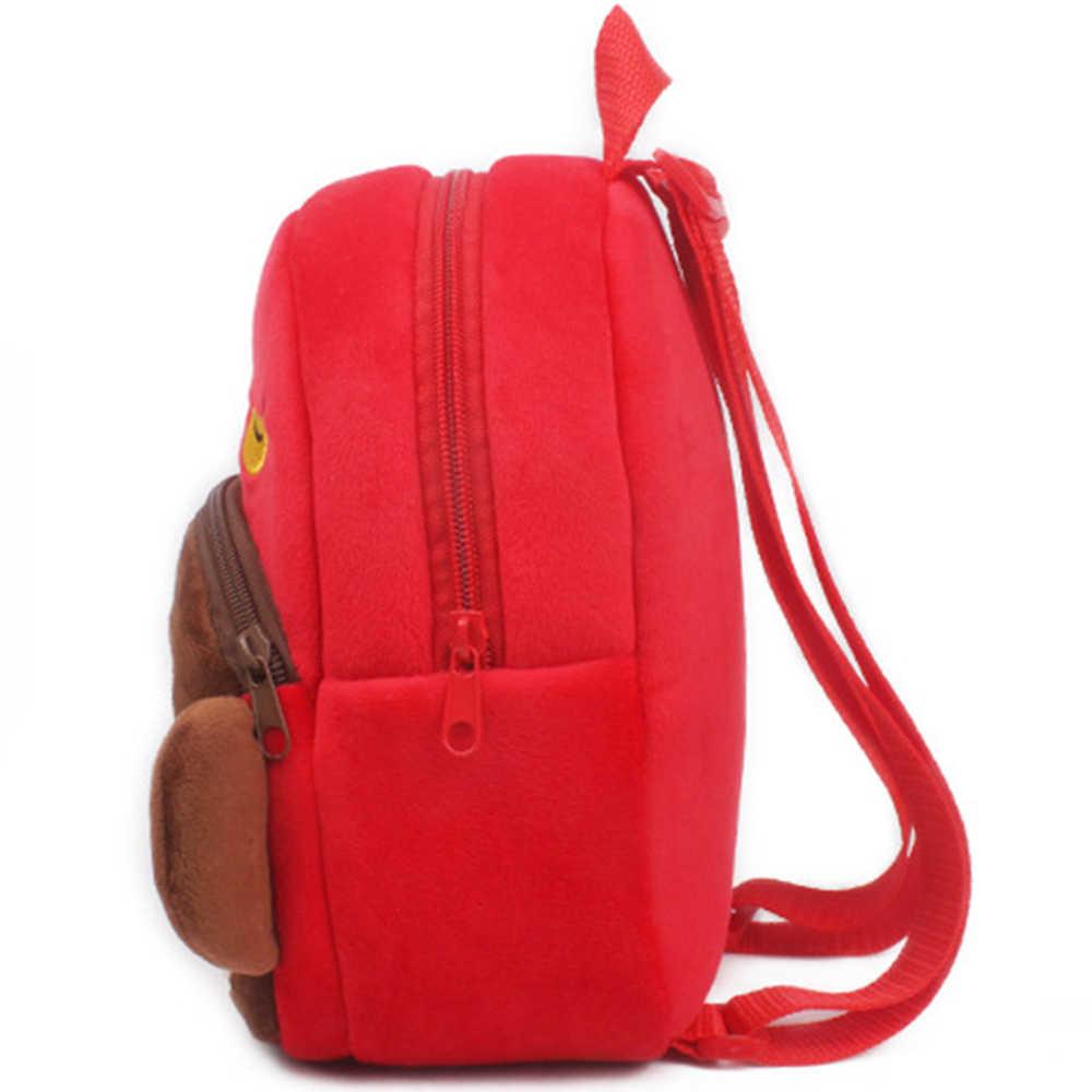 Мини плюшевый рюкзак для детей Kwaii забавные детские Обучающие студенческие сумки симпатичная школьная сумка мультфильм обезьяна ранец для детского сада