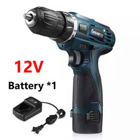 12V Mini Two Speed Rechargeable Lithium Battery Hand Drill LED Light Electric Drill Charger Impact Cordless