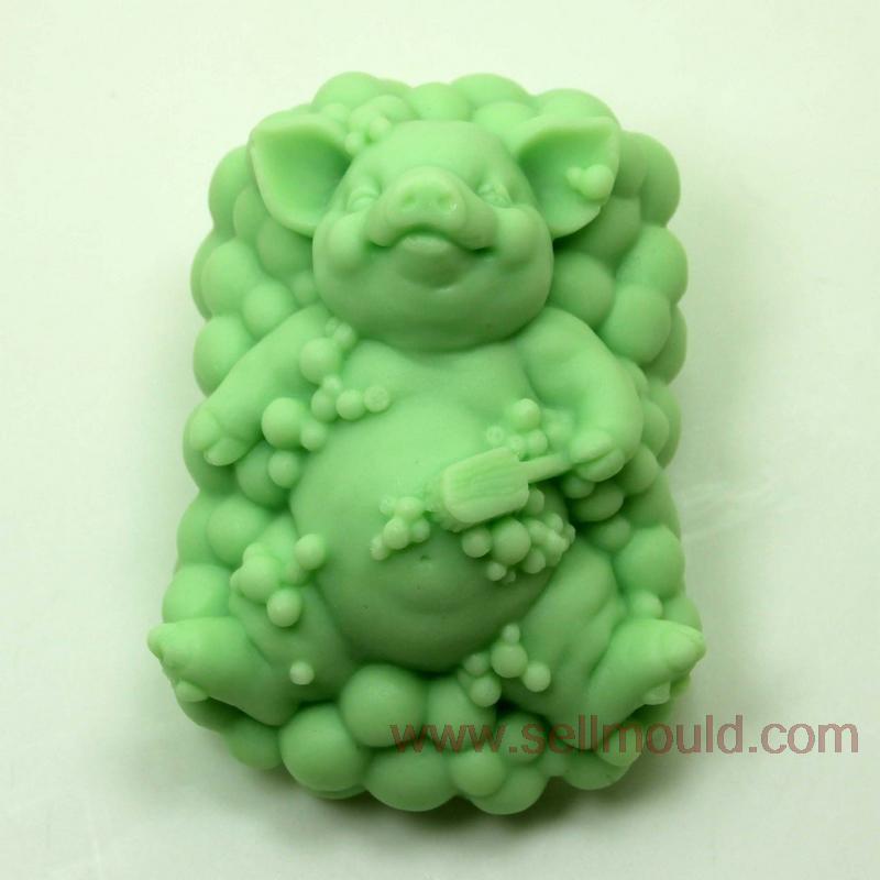 Cerdo molde del jabón del silicón molde para hornear de silicona accesorios de c