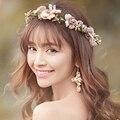 Planta Pageant Flor Multicolor Casamento Coroa de Noiva Acessórios Para o Cabelo Chegada de Nova Moda Verão Luxo Faixas de Cabelo De Noiva Tiara