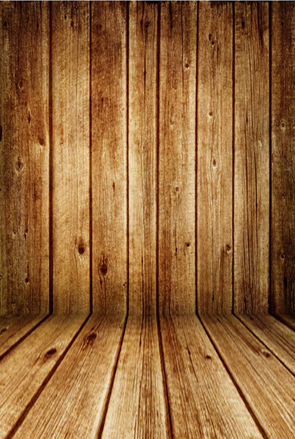 Emulational Pine Plank Printed Backdrops For Baby Photo 3d
