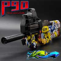 P90 Elektrikli Oyuncak Tabanca Paintball Canlı CS Saldırı Snipe Silah Yumuşak su mermisi Tabanca ile bulletsToys Erkek Silahlar oyuncak tabanca