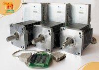 High Quality 3 Axis Nema 42 Stepper Motor 4200oz in, 8A CNC bipolar & 110 220VAC Driver Mill Control