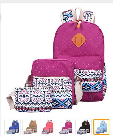 Ecoparty Teenagers Girls Canvas Printing Backpack Women Middle High School Bags  Bagpack Bookbags Sac A Dos Mochila Backp genuine leather backpack women designer bags high quality new rivet casual black school bags for teenagers grils sac a dos