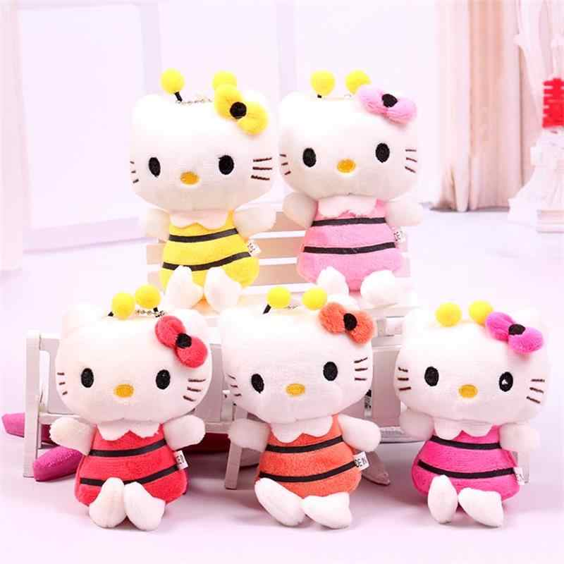 43d754558 5pcs Plush toys for children kids baby toy lively lovely doll hello kitty  cat toy Bouquets
