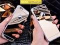"""Роскошные Гальванических Зеркало Мягкая Ясности TPU Телефон Case Для iPhone 5 5S SE 6 6 S 7 4.7 дюймов 6 6 S 7 Плюс 5.5 """"и 5se 5S 5 Задняя Крышка"""