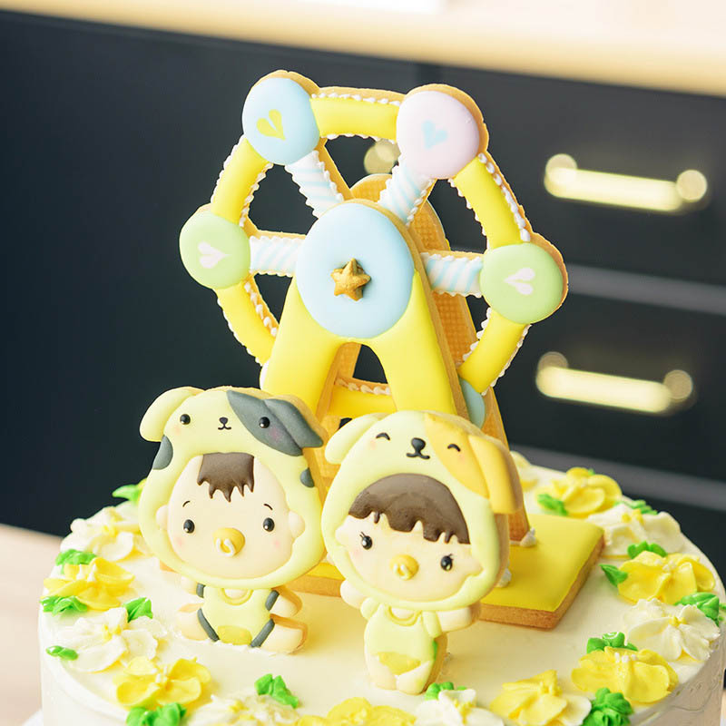 Image 3 - 3PCS  Bakeware Ferris Wheel Shaped Cake Tools  Plastic  Fondant Biscuit Mold Baking Mould Cookie Cutter  Kitchen Gadgets-in Cake Molds from Home & Garden