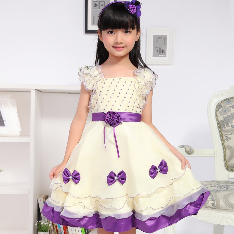 2018 summer new children's clothing girls dress princess dress children Puff large influx of short-sleeved dress gauze dress 2018 children s clothing new short sleeved girls printed shoulders children princess puff dress baby girl clothes baby