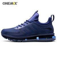 ONEMIX Men Sneakers 2019 Atheltic Shoes for Men High Top Sport Shoe Blue Outdoor Sneakers Mesh Breathable Walking Footwear Sport