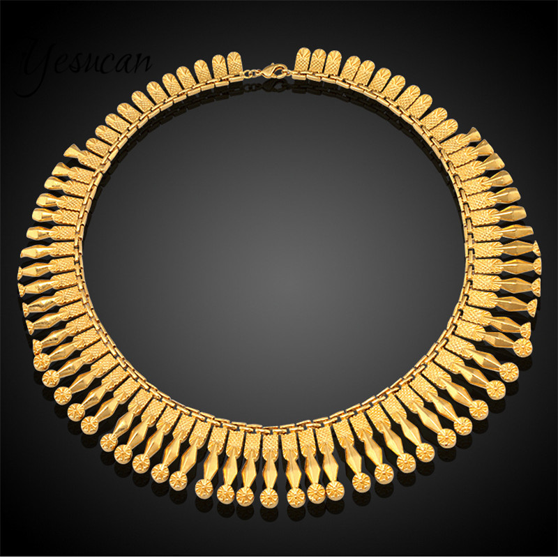 Yesucan Top cuivre gland collier Chokers bijoux cou bavoir Torques chaîne glands déclaration collier pendentif femmes bijoux de mariage