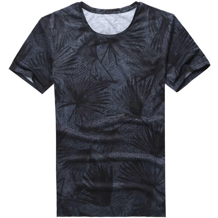 2018夏新プリントファッションラウンドネックtシャツメンズヒップホップスタイル半袖tシャツ男性カジュアルコットンストリートトップス
