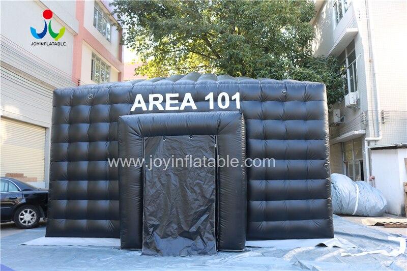 Надувная палатка черного цвета со светодиодной подсветкой для вечеринки - 6