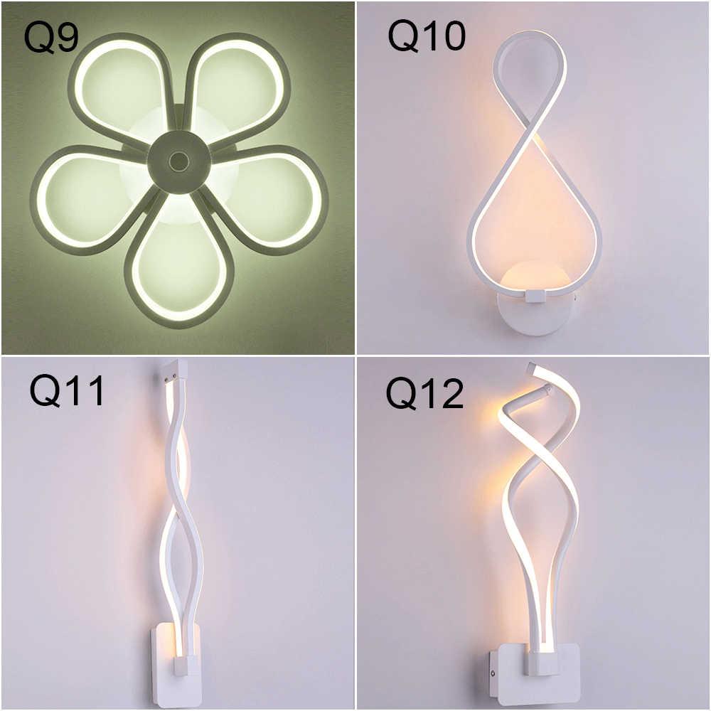Светодиодные Настенные светильники в скандинавском стиле для спальни, светодиодные Настенные светильники для гостиной, настенные светильники для помещений, теплый белый свет и холодный белый свет
