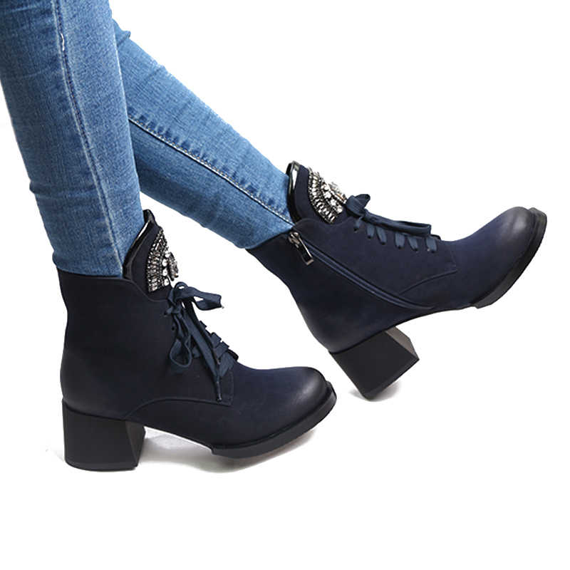 edb92f59cb4 ... WETKISS Woman Winter Boots Ankle Boot Female Crystal Lace up Female  Booties Platform Heels High Plush. RELATED PRODUCTS. WETKISS Plus Size ...