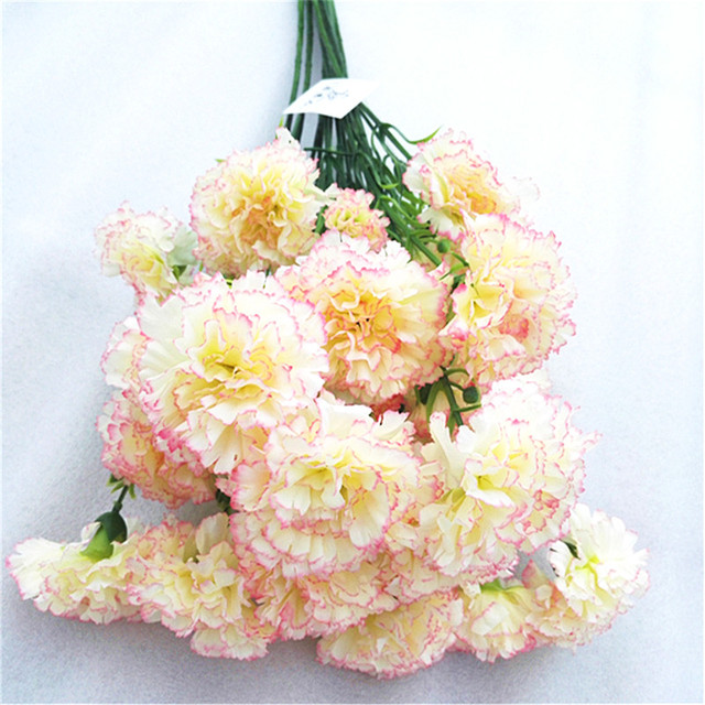 1piece Carnation Artificial Colors Flower Arrangement Home - Which-artificial-flower-colors-are-good-for-a-home