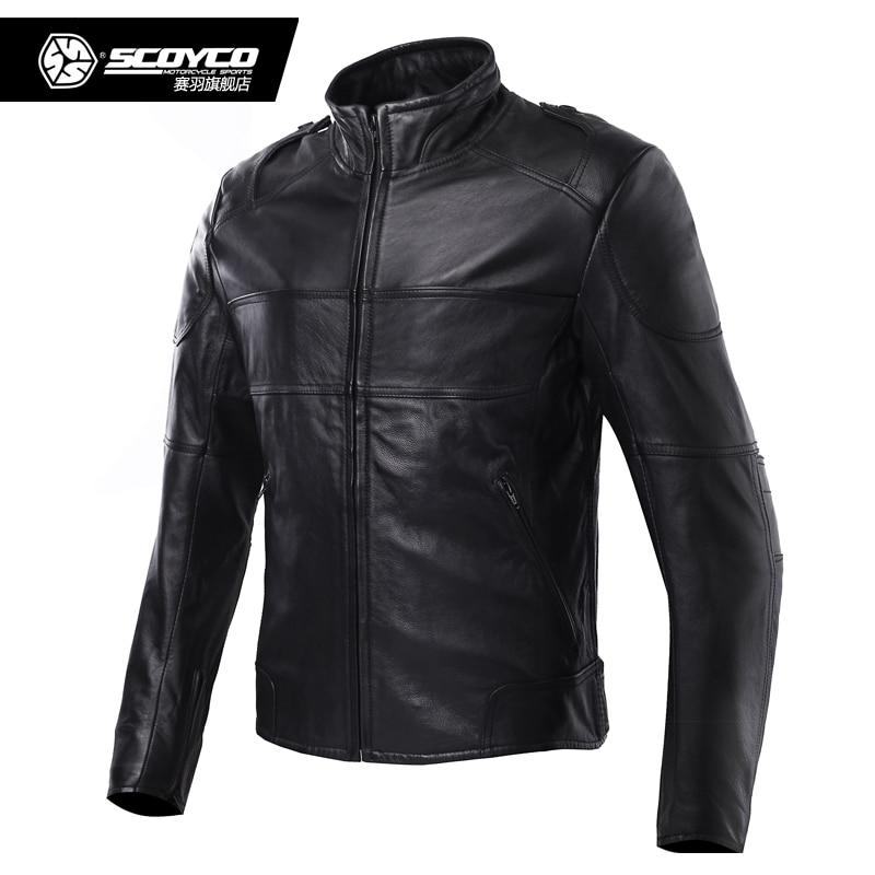 Scoyco JK44 veste de Moto en cuir véritable Motocross hommes veste d'équitation ceket Moto armure équipement Sport vêtements de protection