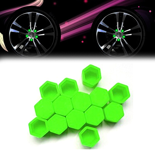 20pcs/bag 17mm wheel nut covers 19mm 21mm  car bolt caps wheel nuts silicone covers practical hub screw cap protector 4