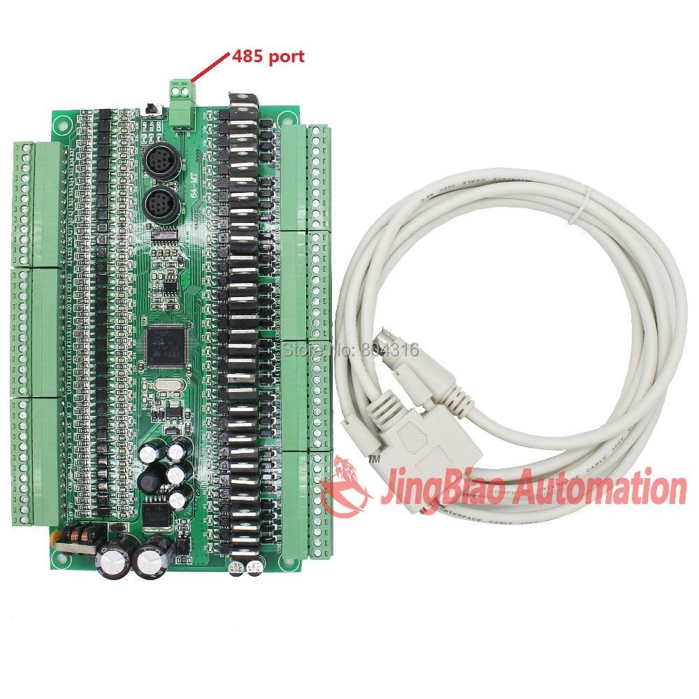 EX1N 64MR/ 64MT 32 input 32 output RS485 modbus RTU plc controller automation controls plc system