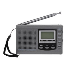 HRD-310 Mini FM/AM/SW Radio Multiband Digital Stereo Portable Radio Receiver Earphone Time Display Alarm Clock Rotatable Antenna(China)