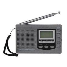 HRD 310 Mini FM/AM/SW radyo Multiband dijital Stereo taşınabilir radyo alıcısı kulaklık zaman ekran alarmı saat dönebilen anten
