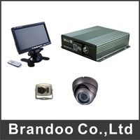 4CH SD CAR DVR 7 Inch LCD Monitor 1pcs Inside Dome Camera 1pcs Mini Camera Kit