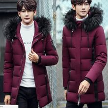 b High-quality Men down jacket Winter Thick Warm Coat of the Parka with Fur Collar Fashion Jackets Classic Parkas plus size 3XL rokediss 2017 new winter mens parka clothing men jacket coat with fur hood high quality jackets men plus size vestidos hot sale