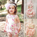 2015 One-pieces Baby Girls Lace Flower Romper Sunsuit Photo Outfits Newborn-5T