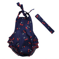Newborn Baby Girl Infant Sleeveless Romper Clothes Summer Outfit One-piece 0-24M
