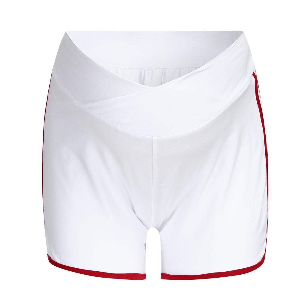 ARLONEET летние шорты для беременных с низкой талией, тонкие хлопковые шорты, Одежда для беременных женщин, повседневная спортивная одежда для беременных - Цвет: RD