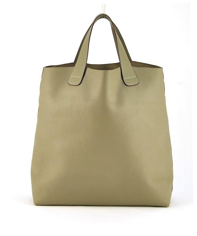 Kobiety oryginalna prawdziwa skóra duże torby na ramię torba na zakupy na zakupy torebka na ramię modna torebka w stylu Vintage codzienny Casual projektant pani w Torby z uchwytem od Bagaże i torby na  Grupa 3