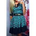 Sexy women summer dress casual festa printing dress meia manga evening bola formal vestido estilo ocidental lb