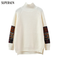 SuperAen 2018 Spring New Women Pullovers Sweater Korean Style Long Sleeve Casual Wild Ladies Sweater Loose