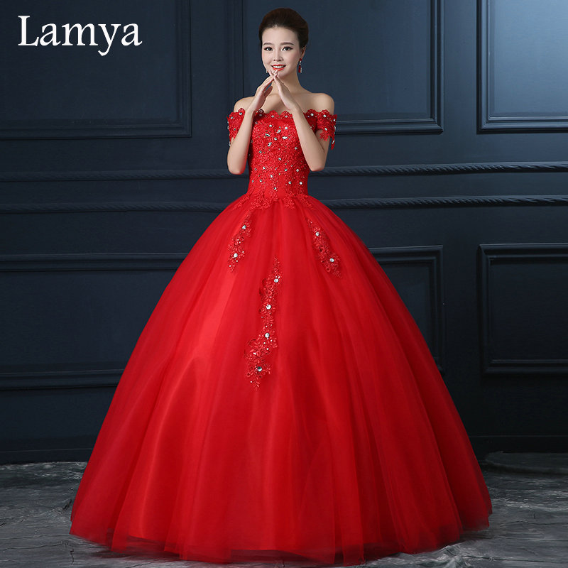 Collection Red Ball Gown Wedding Dresses Pictures - Weddings Pro