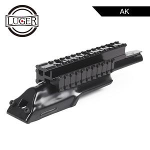 LUGER AK 47 receptor cubierta superior montaje alcance Tri-Rail Integral Picatinny Rifle tejedora montaje carril arma de caza de aire accesorios