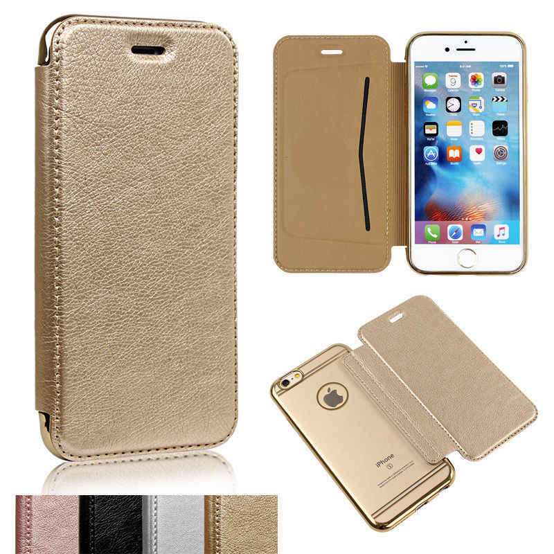 Luxury Slim Book Leather TPU Wallet Flip Phone Protect Case Cover For iPhone 5 5S SE 6 6S Plus 7 8 X Plus For Samsung S6 S7 Edge
