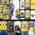 Nuevo diseño de pintura de silicio cubierta fierce despicable minion amarillo para apple iphone 4 iphone 4s iphone4s casos shell 2017