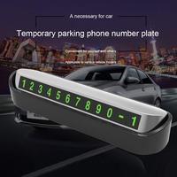 Car Temporary Parking Card sticker Hidden Mobile Phone Number Plate with 3M Adhesive for Car Dashboard