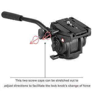Image 4 - KINGJOY Official VT 3510 Panoramic Tripod Head Hydraulic Fluid Video Head For Tripod Monopod Camera Holder Stand Mobile SLR DSLR