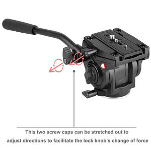 Image 4 - Kingjoy Officiële VT 3510 Panoramische Statiefkop Hydraulische Vloeistof Video Hoofd Voor Statief Monopod Camera Houder Stand Mobiele Slr Dslr